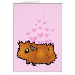 Guinea Pig Love (scruffy) Card