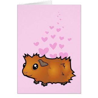 Guinea Pig Love (scruffy) Greeting Card