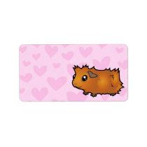 Guinea Pig Love (scruffy) Label