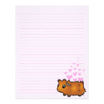 Guinea Pig Love (scruffy) Letterhead