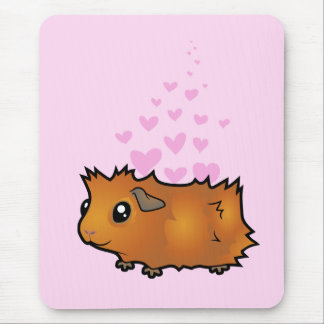 Guinea Pig Love (scruffy) Mouse Pad