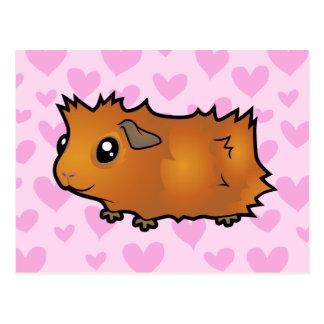 Guinea Pig Love (scruffy) Postcard