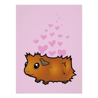 Guinea Pig Love (scruffy) Posters