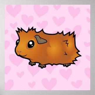Guinea Pig Love (scruffy) Print
