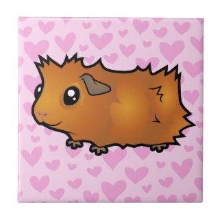 Guinea Pig Love (scruffy) Tile