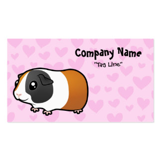Guinea Pig Love (smooth hair) Double-Sided Standard Business Cards (Pack Of 100)