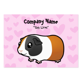 Guinea Pig Love (smooth hair) Large Business Cards (Pack Of 100)
