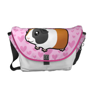 Guinea Pig Love (smooth hair) Courier Bag