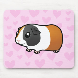 Guinea Pig Love (smooth hair) Mouse Pad