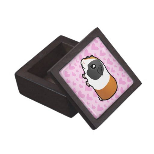 Guinea Pig Love (smooth hair) Premium Jewelry Boxes