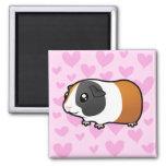 Guinea Pig Love (smooth hair) Refrigerator Magnet