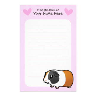 Guinea Pig Love (smooth hair) Stationery