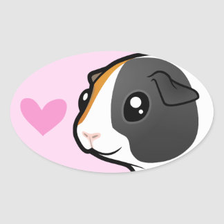 Guinea Pig Love (smooth hair) Stickers