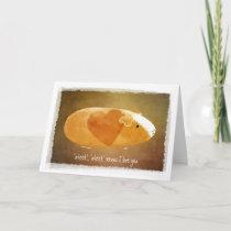 Guinea Pig Lover Valentine Card
