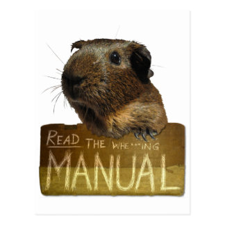 Guinea Pig Manual Postcard