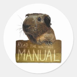 Guinea Pig Manual Stickers