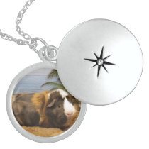 Guinea Pig Necklace in Sterling Silver