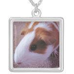 guinea pig neclace square pendant necklace