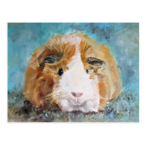 Guinea Pig Oil Painting by Kate Marr Postcard