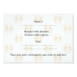 Guinea Pig on a pattern of paler Guinea Pigs. 3.5x5 Paper Invitation Card