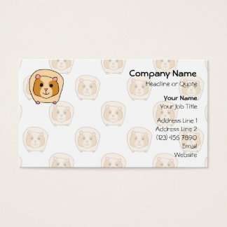 Guinea Pig on a pattern of paler Guinea Pigs. Business Card