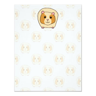 Guinea Pig on a pattern of paler Guinea Pigs. Card