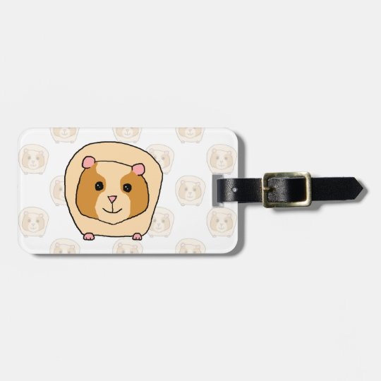 Guinea Pig on a pattern of paler Guinea Pigs. Luggage Tag