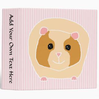 Guinea Pig, on light pink stripes. Binder