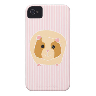 Guinea Pig, on light pink stripes. iPhone 4 Covers