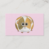 Guinea Pig on Pink. Business Card
