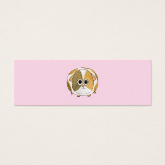 Guinea Pig on Pink. Mini Business Card