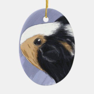 Guinea pig ceramic oval decoration
