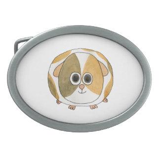 Guinea Pig. Oval Belt Buckle