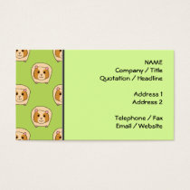 Guinea Pig Pattern, on Green. Business Card