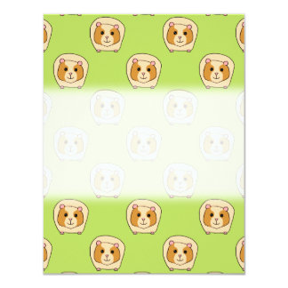 Guinea Pig Pattern, on Green. Card