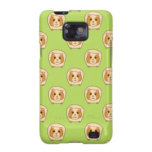 Guinea Pig Pattern, on Green. Samsung Galaxy S2 Cover