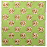 Guinea Pig Pattern, on Green. Cloth Napkins