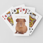 "Guinea Pig Playing Cards<br><div class=""desc"">My Guinea Pig is watching you!</div>"