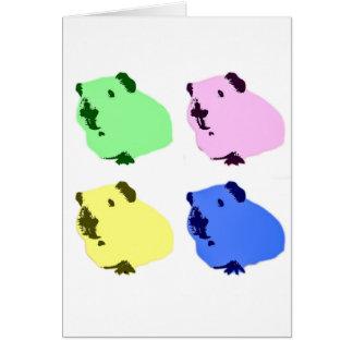 Guinea pig pop art effect card