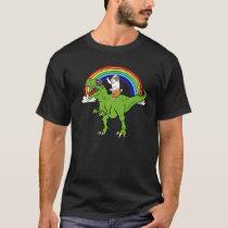Guinea Pig Riding T Rex Dinosaur Pet Gift T-Shirt