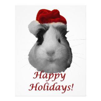Guinea Pig Santa Holidays Personalized Letterhead