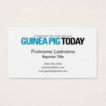 Guinea Pig Today Business Cards