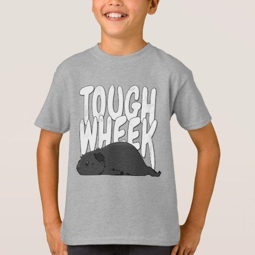 Guinea Pig Tough Wheek Black Dark Grey Guinea Pig T_Shirt