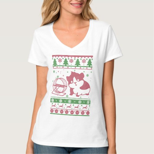 Guinea Pig Ugly Christmas T-Shirt After Christmas Sales 5549