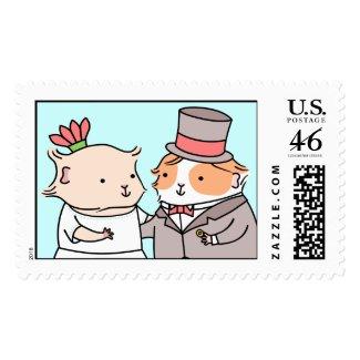 Guinea-pig Wedding Couple zazzle_stamp