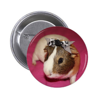 Guinea Pig With Bow 2 Pinback Button