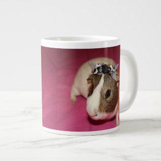 Guinea Pig With Bow 2 Large Coffee Mug