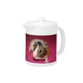 Guinea Pig With Bow 2 Teapot