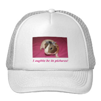 Guinea Pig With Bow 2 Trucker Hat