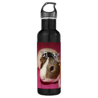 Guinea Pig With Bow 2 Water Bottle
